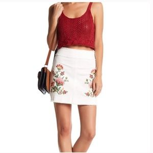 NWT Jealous Tomato Embroidered Floral Skirt